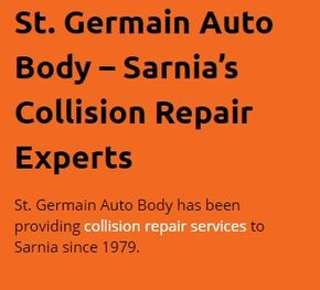 St. Germain Auto Body - Sarnia's Collision Repair Experts - St. Germain Auto Body has been providing collision repair services to Sarnia since 1979.